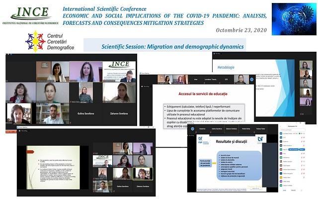 """Conferinţa ştiinţifică internaţională """"Implicațiile economice și sociale ale pandemiei COVID-19: analize, prognoze și strategii de atenuare a consecințelor"""" 23 octombrie 2020"""