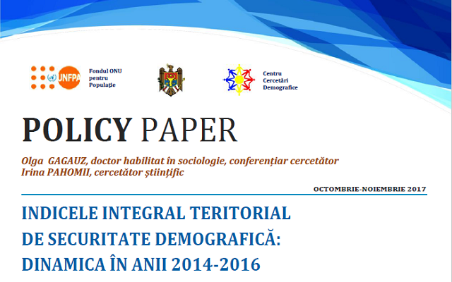 Indicele Integral Teritorial de Securitate Demografică: Dinamica în Anii 2014-2016